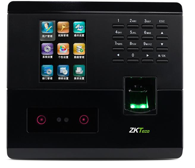 中控智慧(ZKTeco) LQ660 彩屏指纹+人脸识别 考勤机打卡签到机器上班科技识别机器 黑色 考勤机