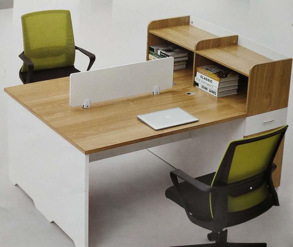 二人位职员桌WT-012  160*120*75cm