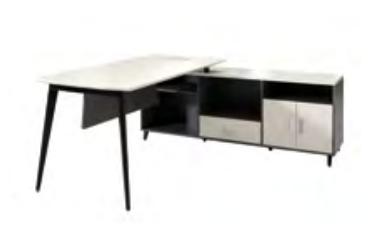 板式职员桌WY-001  200*160*75cm