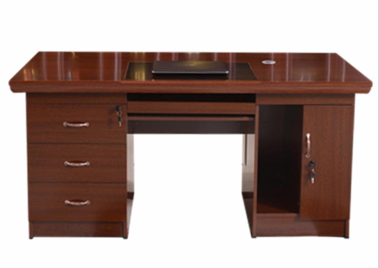 喷漆电脑桌160*80*76cm胡桃木皮